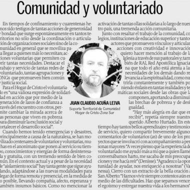 Comunidad y voluntariado (El Sur)