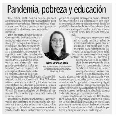 Pandemia, pobreza y educación